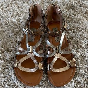 Girls' STEVE MADDEN Bronze Sandals -Size 13